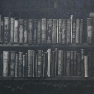 Marchpane Books, London/2013/black color pencil on paper/330x770mm