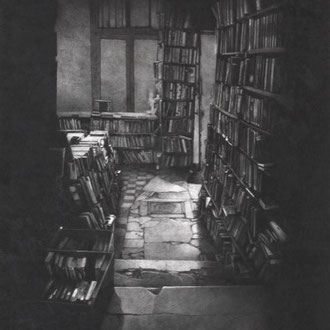Shakespeare & Co., Paris #3/2008/black color pencil on paper/570x460mm