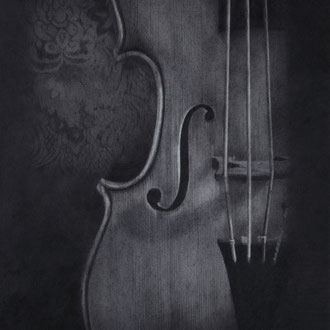 Violoncello piccolo da spalla#3/2010/black color pencil/287x350mm