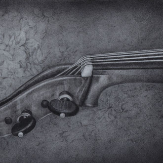 Violoncello piccolo da spalla#2/2010/black color pencil/386x182mm