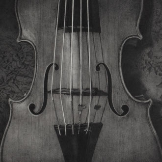 Violoncello piccolo da spalla#4/2010/black color pencil on paper/305x411mm