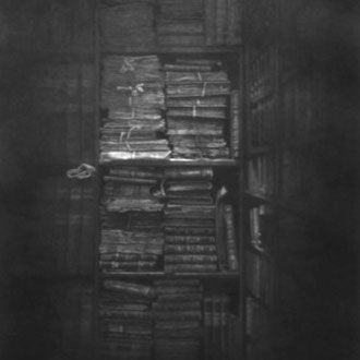 Rhodes House Library,Oxford/ black color pencil on paper/ 580x380mm