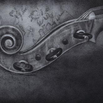Violoncello piccolo da spalla#1/2010/black color pencil on paper/173x290mm