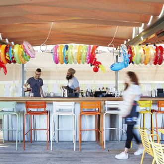 Terrasse du Mama Shelter Bordeaux - Design Starck - Photo Mama Shelter