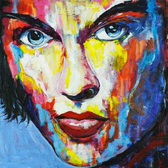Frauenportrait II - 80 x 80