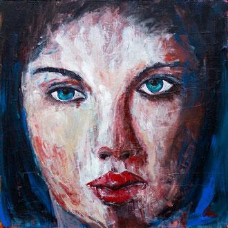 Frauenportrait IV - 110 x 110
