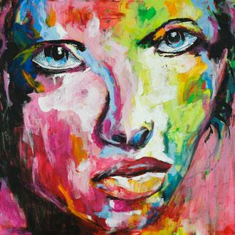 Frauenportrait III - 80 x 80
