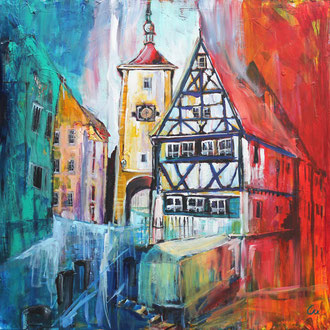 Rothenburg ob der Tauber - 100 x 100