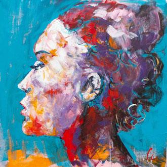 Frauenportrait V - 60 x 60