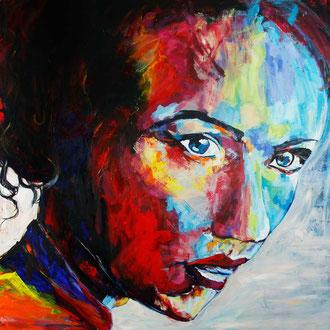 Frauenportrait I - 150 x 120