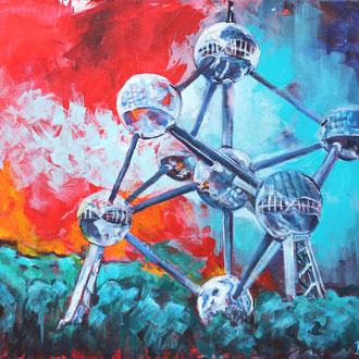 Atomium Brüssel - 100 x 80