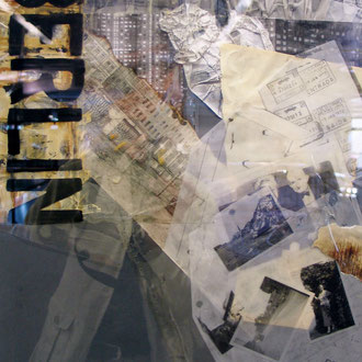 EINE KINDHEIT IN BERLIN   i.R. 70x50 Mischtechnik Fotos, Folien