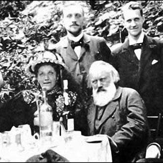 Brahms en el Garden Party en 1896.