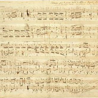 Página autógrafa de la Polonesa heroica en La bemol Op. 53