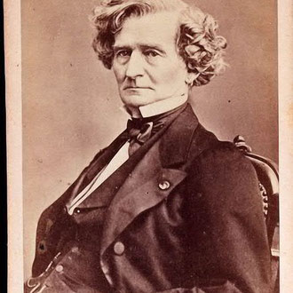 Cabinet card photo of Hector Berlioz by Franck, Paris, ca. 1855