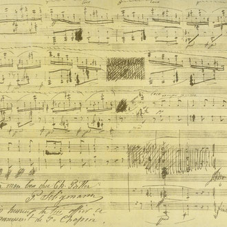 Manuscrito de Chopin