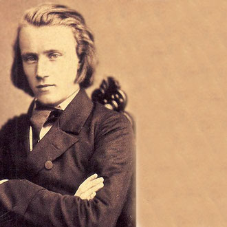 Johannes Brahms en 1853.