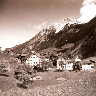 Blick vom Schulhaus Richtung Norden, ca. 1930