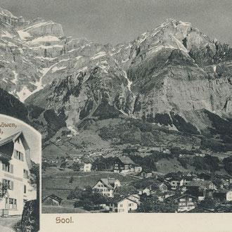 Sool Löwen 1917 Foto von August Berlinger, Glarus