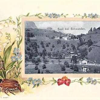 Postkarte aus der Zeit des Schulhausbaus 1902