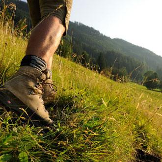 Gute Schuhe sind Vorraussetzung