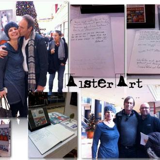 Alster Art Hamburg mit Künstler- Kollegen Nils Peters, Reinhard Stammer und Roland Peeters