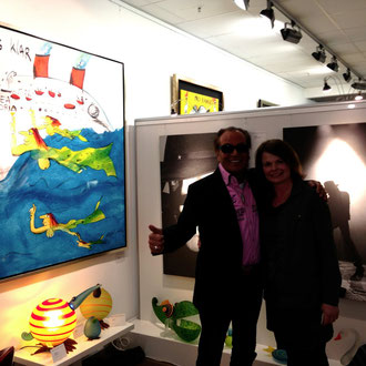 mit Heinrich Walentowski in der Walentowski Galerie, Hamburg