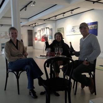 Fabrik der Künste, Hamburg. Unsere Ausstellung Ingeborg Servatius, E. Schulz, R. Peeters und ich