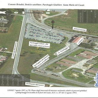 Foto satellitare parcheggio S. Maria del Casale