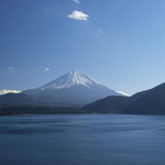 1000円札の富士山の現地 本栖湖