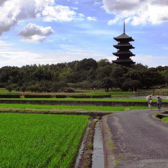 吉備路のシンボル、吉備国分寺五重の塔