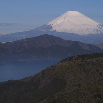 芦ノ湖と富士 箱根大観山