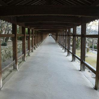 吉備津神社の特徴、回廊