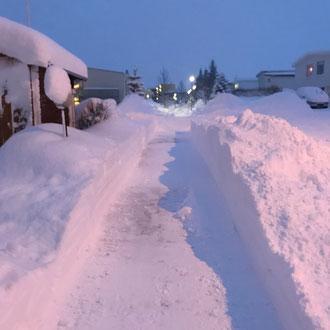 Bürgersteige im Winter