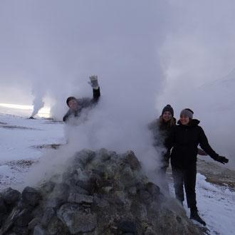 Besuch in Mývatn mit Freunden