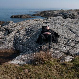 Irlande, Connemara, Lettermullen, baie de Galway, pause soleil