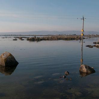 Irlande, Connemara, Lettermullen, baie de Galway, réseau électrique