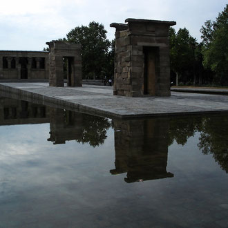 Espagne, Madrid, Temple de Debod dédié au dieu Amon