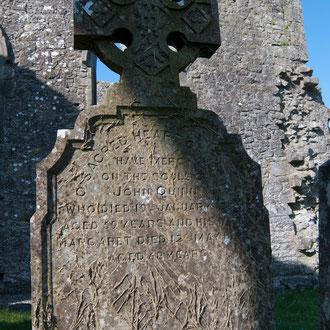 Irlande, Comté du Connemara, Athenry, cimetière du prieuré Dominicain du XI ème siècle