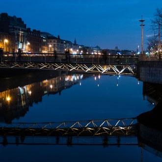Dublin, reflet sur la Liffey