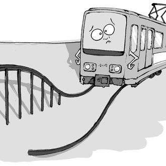 """""""Hochbahnsteig"""" Illustration für die Hannoversche Allgemeine Zeitung © Stefan Hoch"""