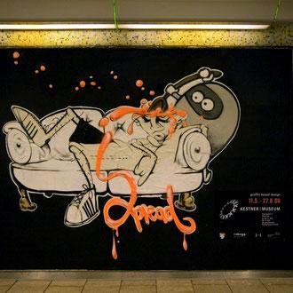 """spread"" graffiti based design, hannover kestner museum 2006, feat.: legejoe © Stefan Hoch"
