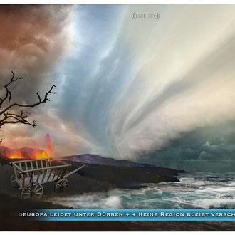 """""""Klimawandel und dessen Berichterstattung"""" Illustration für das Kompakt-Magazin der IG BCE © Stefan Hoch"""