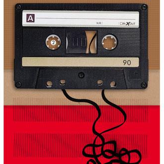 """""""40 Jahre Musikkassette"""" Illustration für die Hannoversche Allgemeine Zeitung"""