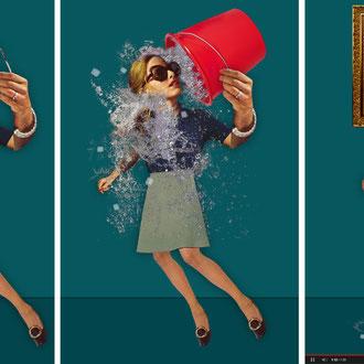 """""""Ice-bucket-challenge"""" für das Kompakt-Magazin der IG BCE © Stefan Hoch"""