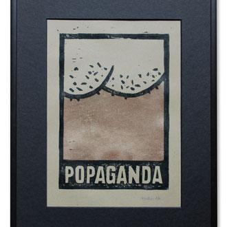 """popaganda"" (linoldruck, auflage 10stk) © Stefan Hoch"