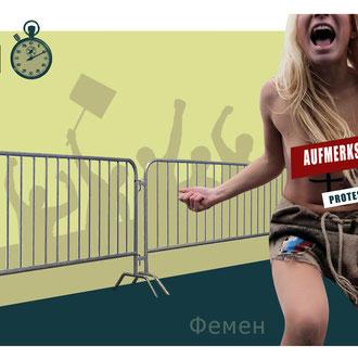 """""""Femen"""" Illustration für das Kompakt-Magazin der IG BCE © Stefan Hoch"""