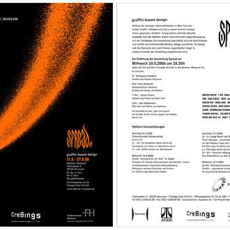 """spread"" graffiti based design, hannover kestner museum 2006 © Stefan Hoch"
