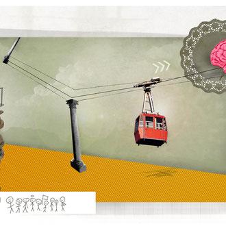 """""""Stipendium"""" Illustration für die Hannoversche Allgemeine Zeitung © Stefan Hoch"""