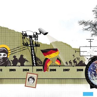 """""""Die letzten 10 Jahre"""" Illustration für die Hannoversche Allgemeine Zeitung © Stefan Hoch"""
